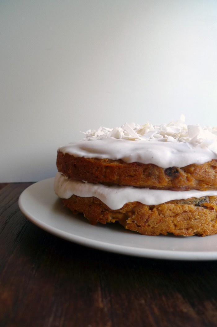vegan carrot layer cake charlotte eats