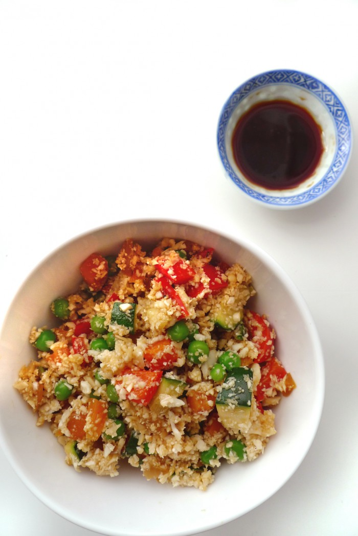 charlotte eats fried cauliflower rice