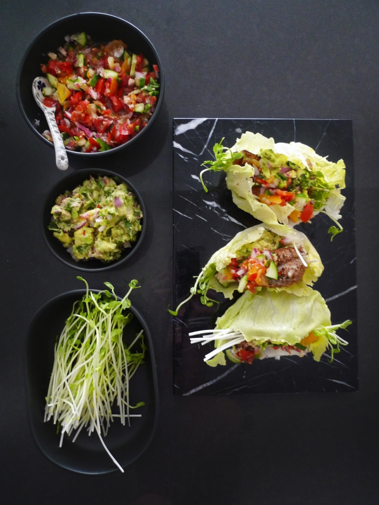 charlotte eats lettuce cup fish tacos