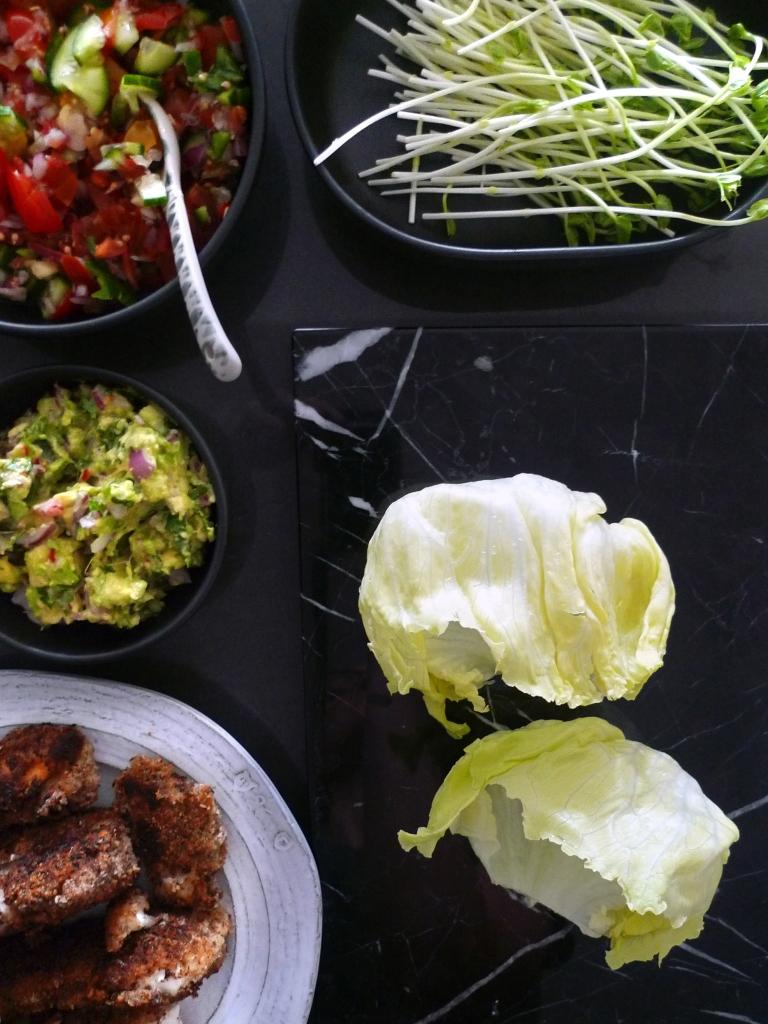 charlotte eats lettuce leaf tacos